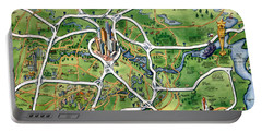 Houston Texas Cartoon Map Portable Battery Charger