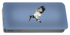 Hovering Of White Pied Kingfisher Portable Battery Charger