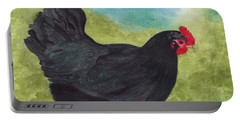How Do You Like My Little Black Dress? Iridescent Black Hen Portable Battery Charger