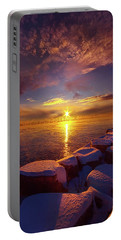 How Loud The Silence Is Portable Battery Charger by Phil Koch