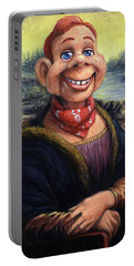 Portable Battery Charger featuring the painting Howdy Doovinci by James W Johnson