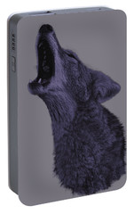 Portable Battery Charger featuring the photograph Howling Coyote by Brian Cross