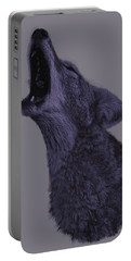 Howling Coyote Portable Battery Charger by Brian Cross