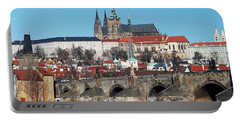 Hradcany - Cathedral Of St Vitus And Charles Bridge Portable Battery Charger