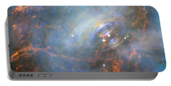 Portable Battery Charger featuring the photograph Hubble Captures The Beating Heart Of The Crab Nebula by Nasa
