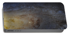 Portable Battery Charger featuring the photograph Hubble's High-definition Panoramic View Of The Andromeda Galaxy by Adam Romanowicz