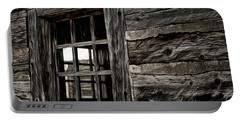 Portable Battery Charger featuring the photograph Hudson Bay Fort Window by Brad Allen Fine Art