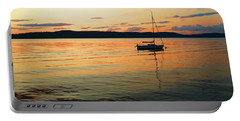 Hudson River From Irvington In Westchester County Portable Battery Charger