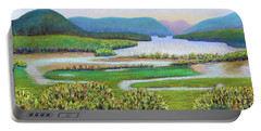 Hudson River In Summer Portable Battery Charger