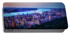 Portable Battery Charger featuring the photograph Hudson River Sunset by Theodore Jones