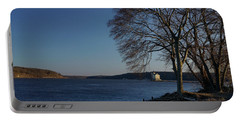 Hudson River With Lighthouse Portable Battery Charger