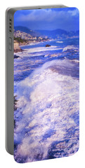 Portable Battery Charger featuring the photograph Huge Wave In Ligurian Sea by Silvia Ganora