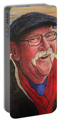 Portable Battery Charger featuring the painting Hugh Hanson Davidson by Tom Roderick