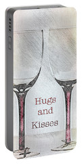 Hugs And Kisses Portable Battery Charger