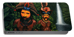 Huli Men In The Jungle Of Papua New Guinea Portable Battery Charger