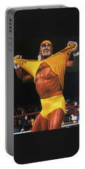 Hulk Hogan Oil On Canvas Portable Battery Charger