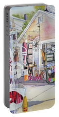 Hull Of A Shoppe Portable Battery Charger by P Anthony Visco
