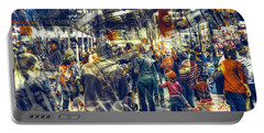 Portable Battery Charger featuring the photograph Human Traffic by Wayne Sherriff
