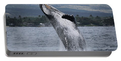 Portable Battery Charger featuring the photograph Humback Whale Breaching by Pamela Walton