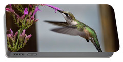 Hummingbird And Agastache Portable Battery Charger