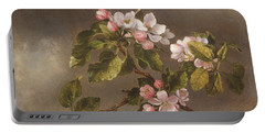 Hummingbird And Apple Blossoms Portable Battery Charger