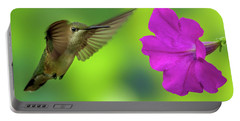 Hummingbird And Flower Portable Battery Charger