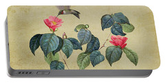 Hummingbird And Japanese Camillea Portable Battery Charger