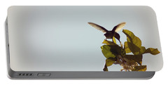 Portable Battery Charger featuring the photograph Hummingbird And Lemon Blossoms by Cindy Garber Iverson