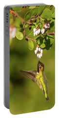 Hummingbird And Manzanita Blossom Portable Battery Charger