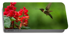 Hummingbird And Scarlet Sage Portable Battery Charger