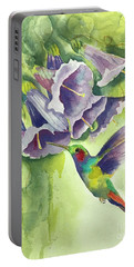 Hummingbird And Trumpets Portable Battery Charger