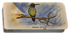 Hummingbird At Rest Portable Battery Charger