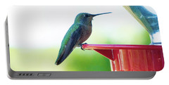 Hummingbird At The Feeder Portable Battery Charger