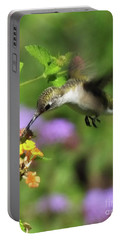 Hummingbird At The Lantana Portable Battery Charger