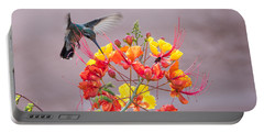 Portable Battery Charger featuring the photograph Hummingbird At Work by Dan McManus