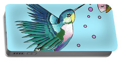 Hummingbird Blue Portable Battery Charger