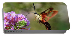 Hummingbird Clearwing Moth Portable Battery Charger
