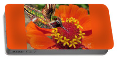 Hummingbird Delight Portable Battery Charger by Kimberlee Baxter