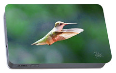 Portable Battery Charger featuring the photograph Hummingbird Flying by Meta Gatschenberger