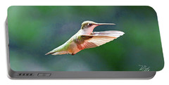 Hummingbird Flying Portable Battery Charger by Meta Gatschenberger