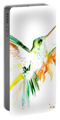 Hummingbird Green Orange Red Portable Battery Charger