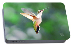 Portable Battery Charger featuring the photograph Hummingbird Hovering by Meta Gatschenberger