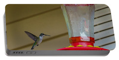 Hummingbird In Flight Portable Battery Charger