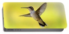 Hummingbird In Yellow Portable Battery Charger