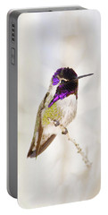 Hummingbird Larger Background Portable Battery Charger by Rebecca Margraf