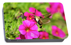Portable Battery Charger featuring the photograph Hummingbird Moth by Christina Rollo