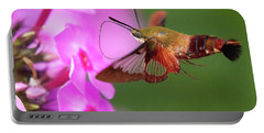 Hummingbird Moth Feeding 2 Portable Battery Charger