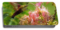 Hummingbird Moth Portable Battery Charger by Phyllis Beiser