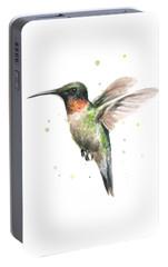 Hummingbird Portable Battery Charger by Olga Shvartsur