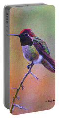 Hummingbird On A Stick Portable Battery Charger by Tom Janca